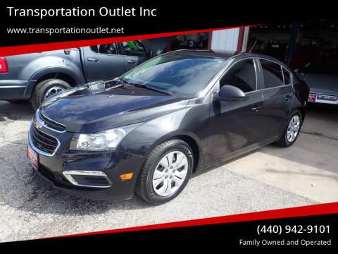 2016 Chevrolet Cruze Limited for sale at Transportation Outlet Inc in Eastlake OH