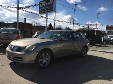 2003 Infiniti G35 for sale at Dino Auto Sales in Omaha NE