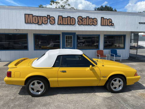 1993 Ford Mustang for sale at Moye's Auto Sales Inc. in Leesburg FL