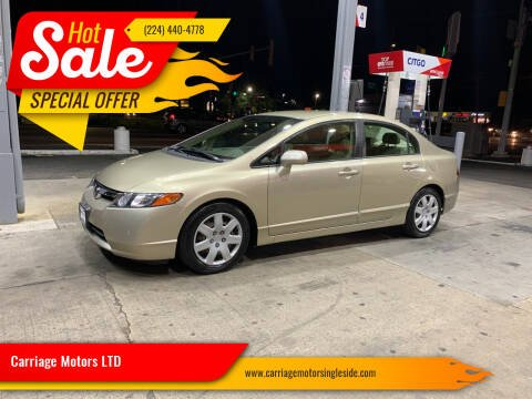 2008 Honda Civic for sale at Carriage Motors LTD in Ingleside IL