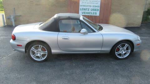 2004 Mazda MX-5 Miata for sale at LENTZ USED VEHICLES INC in Waldo WI