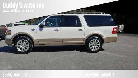 2012 Ford Expedition EL for sale at Buddy's Auto Inc in Pendleton SC