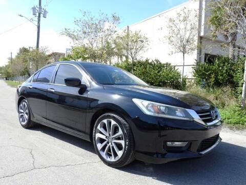 2014 Honda Accord for sale at SUPER DEAL MOTORS in Hollywood FL