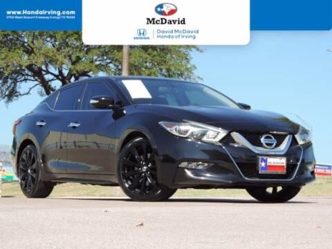 2017 Nissan Maxima for sale at DAVID McDAVID HONDA OF IRVING in Irving TX