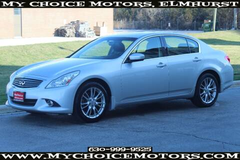 2011 Infiniti G37 Sedan for sale at Your Choice Autos - My Choice Motors in Elmhurst IL