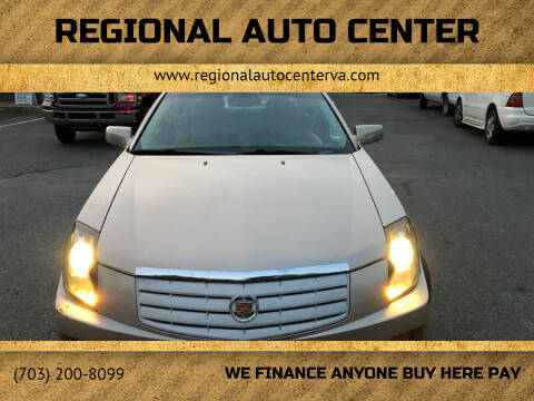 2006 Cadillac CTS for sale at REGIONAL AUTO CENTER in Stafford VA