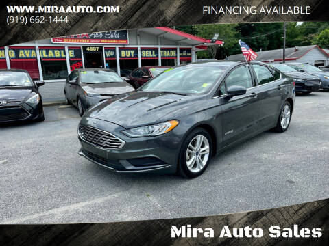 2018 Ford Fusion Hybrid for sale at Mira Auto Sales in Raleigh NC