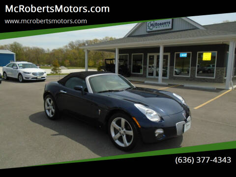 2006 Pontiac Solstice for sale at McRobertsMotors.com in Warrenton MO