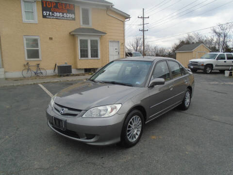 2005 Honda Civic for sale at Top Gear Motors in Winchester VA