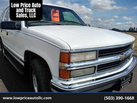 1998 Chevrolet Tahoe for sale at Low Price Auto and Truck Sales, LLC in Brooks OR