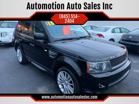 2010 Land Rover Range Rover Sport for sale at Automotion Auto Sales Inc in Kingston NY