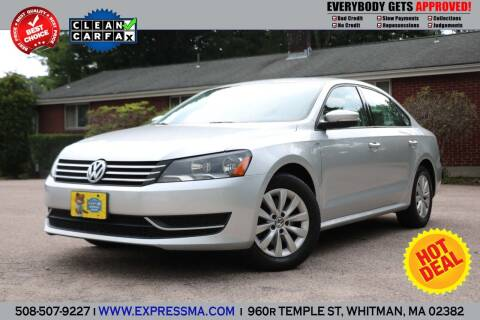 2015 Volkswagen Passat for sale at Auto Sales Express in Whitman MA