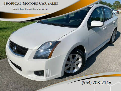 2010 Nissan Sentra for sale at Tropical Motors Car Sales in Deerfield Beach FL