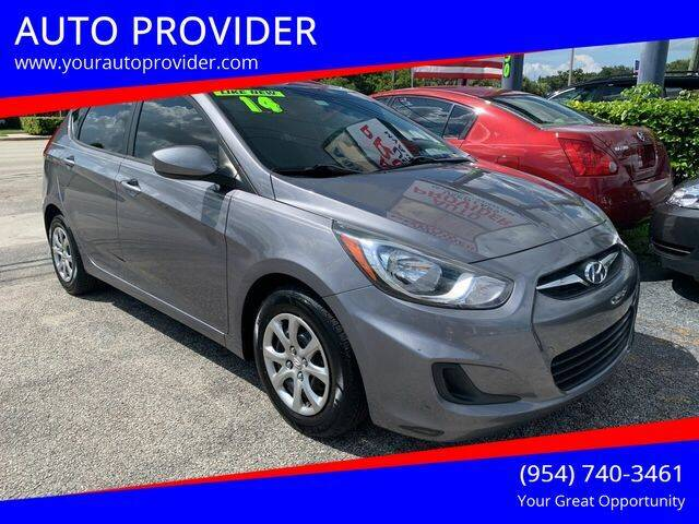 2014 Hyundai Accent for sale at AUTO PROVIDER in Fort Lauderdale FL