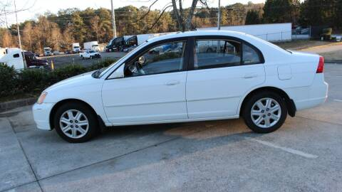 2003 Honda Civic for sale at NORCROSS MOTORSPORTS in Norcross GA