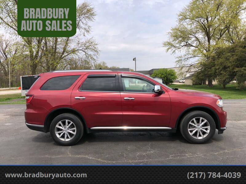 2014 Dodge Durango for sale at BRADBURY AUTO SALES in Gibson City IL