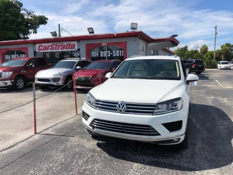 2015 Volkswagen Touareg for sale at CARSTRADA in Hollywood FL