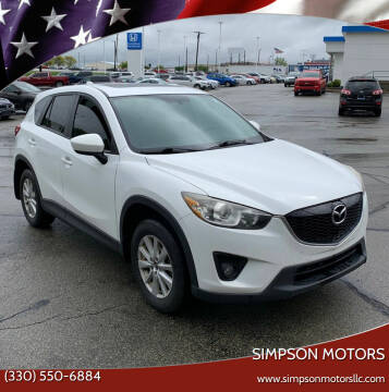 2013 Mazda CX-5 for sale at SIMPSON MOTORS in Youngstown OH