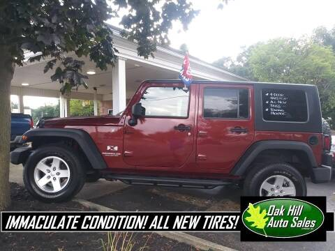 2009 Jeep Wrangler Unlimited for sale at Oak Hill Auto Sales of Wooster, LLC in Wooster OH