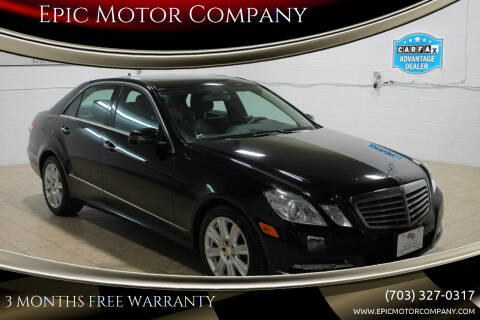 2013 Mercedes-Benz E-Class for sale at Epic Motor Company in Chantilly VA