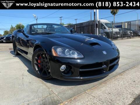 2005 Dodge Viper for sale at Loyal Signature Motors Inc. in Van Nuys CA
