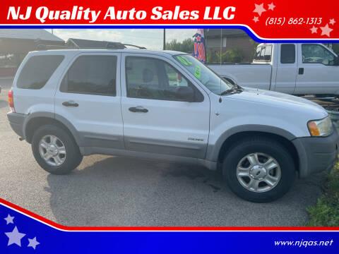 2002 Ford Escape for sale at NJ Quality Auto Sales LLC in Richmond IL