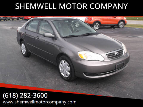 2008 Toyota Corolla for sale at SHEMWELL MOTOR COMPANY in Red Bud IL