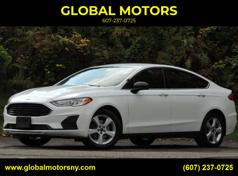 2019 Ford Fusion Hybrid for sale at GLOBAL MOTORS in Binghamton NY