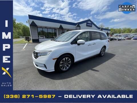 2021 Honda Odyssey for sale at Impex Auto Sales in Greensboro NC