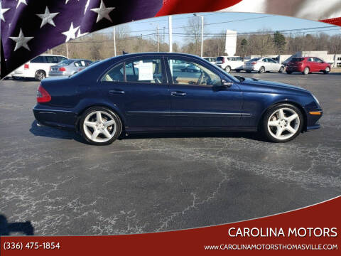 2009 Mercedes-Benz E-Class for sale at CAROLINA MOTORS in Thomasville NC