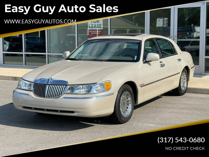 2002 Lincoln Town Car for sale at Easy Guy Auto Sales in Indianapolis IN