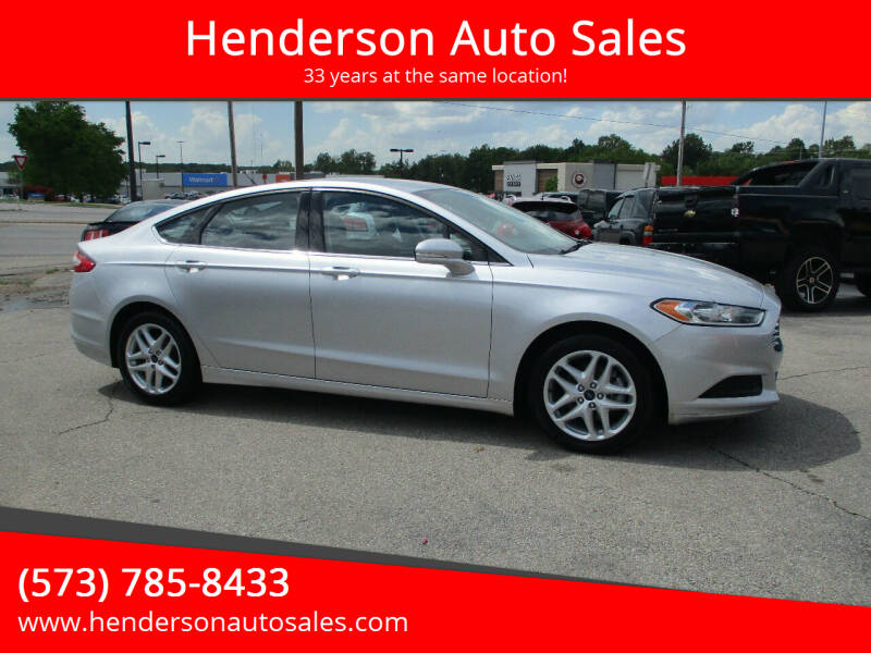 2014 Ford Fusion for sale at Henderson Auto Sales in Poplar Bluff MO