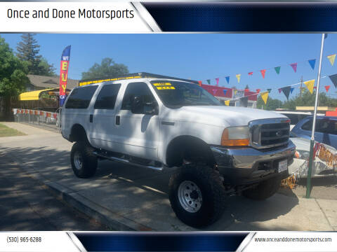 2000 Ford Excursion for sale at Once and Done Motorsports in Chico CA