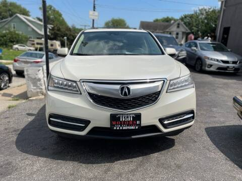 2014 Acura MDX for sale at H & H Motors 2 LLC in Baltimore MD