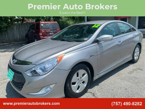 2012 Hyundai Sonata Hybrid for sale at Premier Auto Brokers in Virginia Beach VA