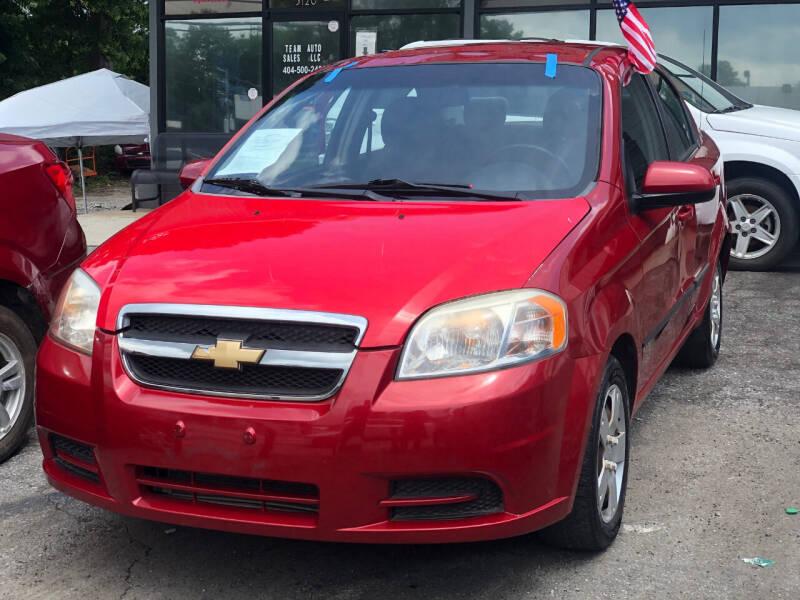 2011 Chevrolet Aveo for sale at TEAM AUTO SALES in Atlanta GA