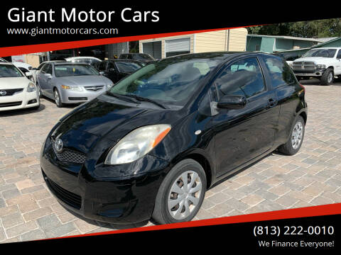 2010 Toyota Yaris for sale at Giant Motor Cars in Tampa FL