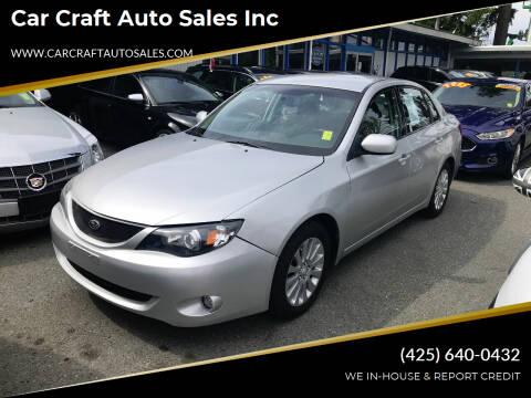2008 Subaru Impreza for sale at Car Craft Auto Sales Inc in Lynnwood WA