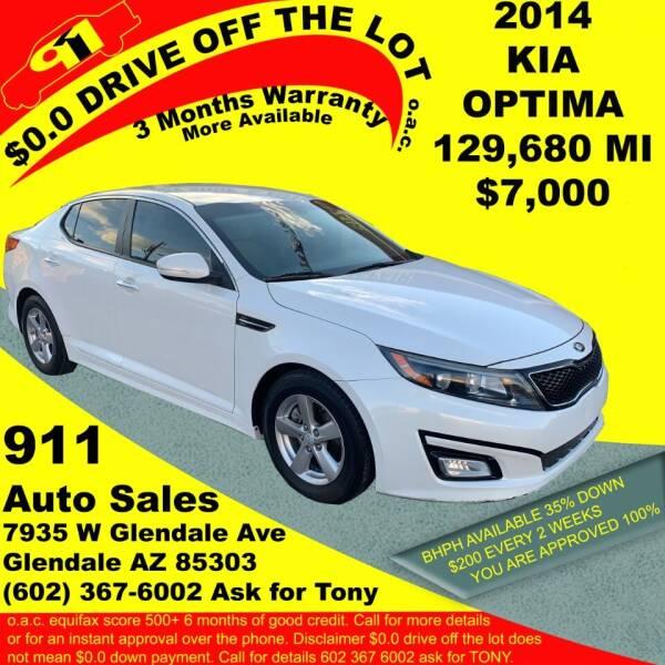 2014 Kia Optima for sale at 911 AUTO SALES LLC in Glendale AZ