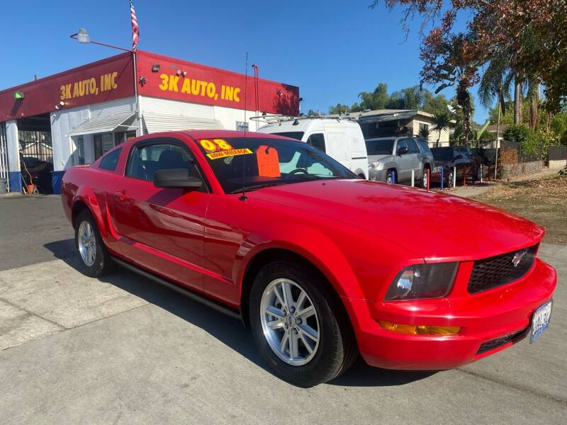 2008 Ford Mustang for sale at 3K Auto in Escondido CA