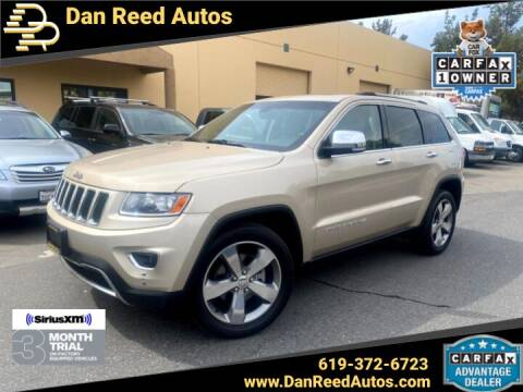 2014 Jeep Grand Cherokee for sale at Dan Reed Autos in Escondido CA