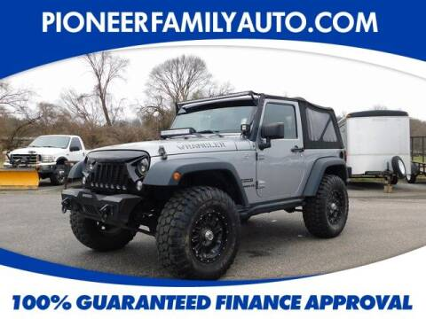2014 Jeep Wrangler for sale at Pioneer Family auto in Marietta OH