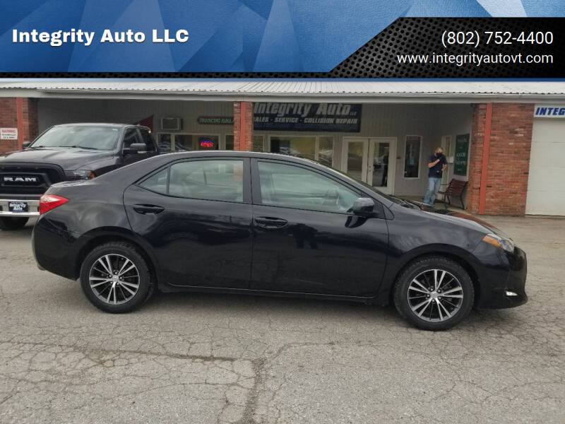 2018 Toyota Corolla for sale at Integrity Auto LLC - Integrity Auto 2.0 in St. Albans VT