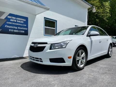 2013 Chevrolet Cruze for sale at METRO AMERICA AUTO SALES of Lebanon in Lebanon PA