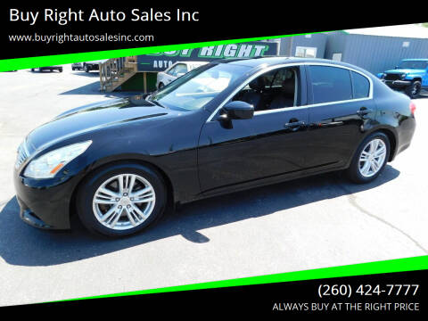 2011 Infiniti G25 Sedan for sale at Buy Right Auto Sales Inc in Fort Wayne IN