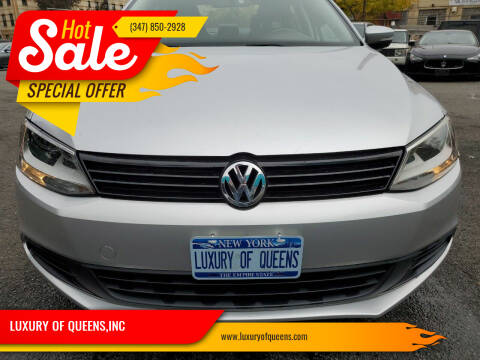 2014 Volkswagen Jetta for sale at LUXURY OF QUEENS,INC in Long Island City NY