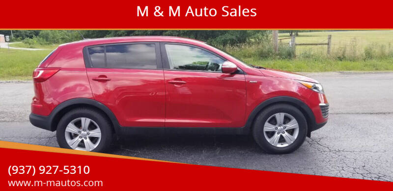 2013 Kia Sportage for sale at M & M Auto Sales in Hillsboro OH