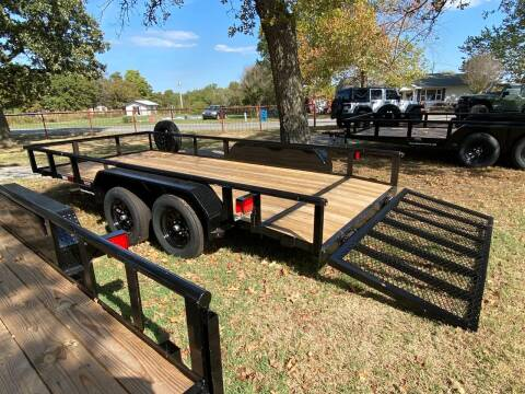"""2021 HD 83""""x16' Utility Trailer for sale at TINKER MOTOR COMPANY in Indianola OK"""