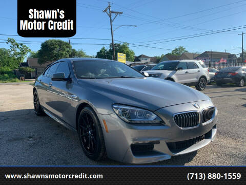 2014 BMW 6 Series for sale at Shawn's Motor Credit in Houston TX