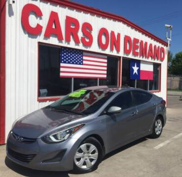 2016 Hyundai Elantra for sale at Cars On Demand 2 in Pasadena TX
